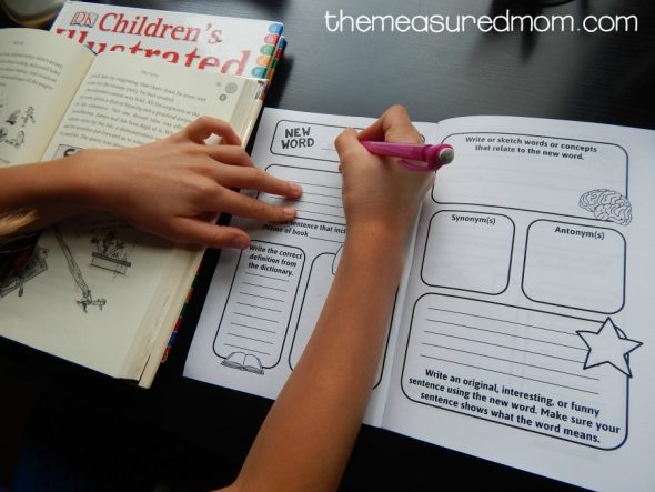 Free vocabulary journal for kids - The Measured Mom