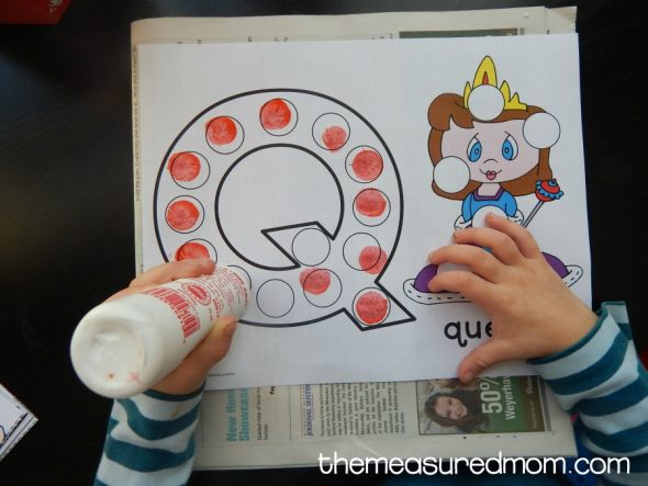 Letter Q Activities for 2-Year-Olds - The Measured Mom