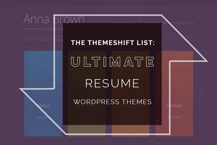20+ Stunning WordPress Resume Themes 2018 - wordpress resume themes