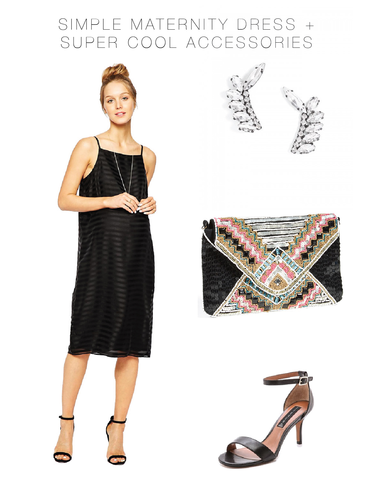 Simple maternity dress super cool accessories