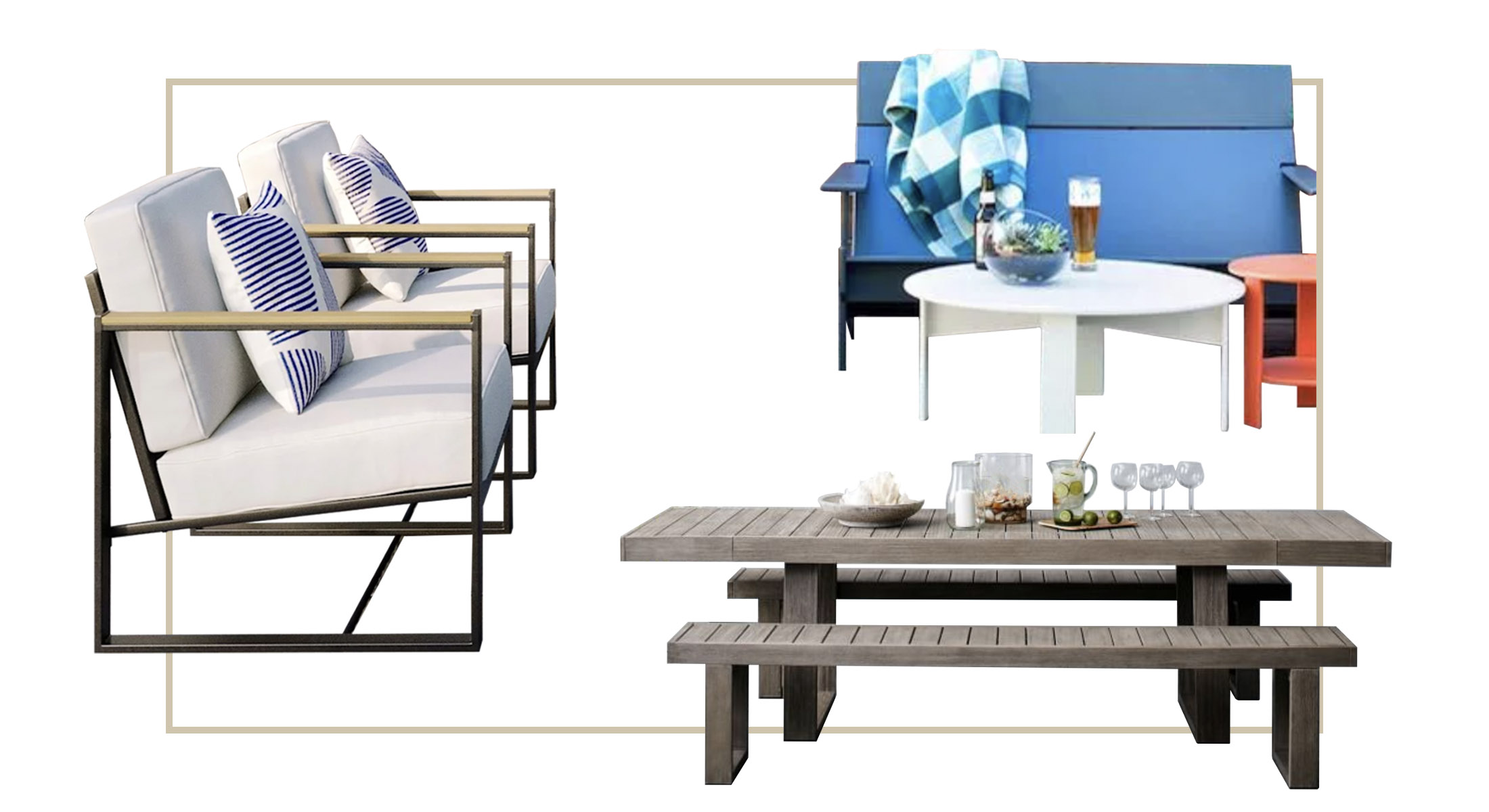 Outdoor Furniture 5 Comfortable Sustainable Patio Dining Sets The Mom Edit