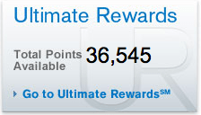 Ultimate Rewards balance