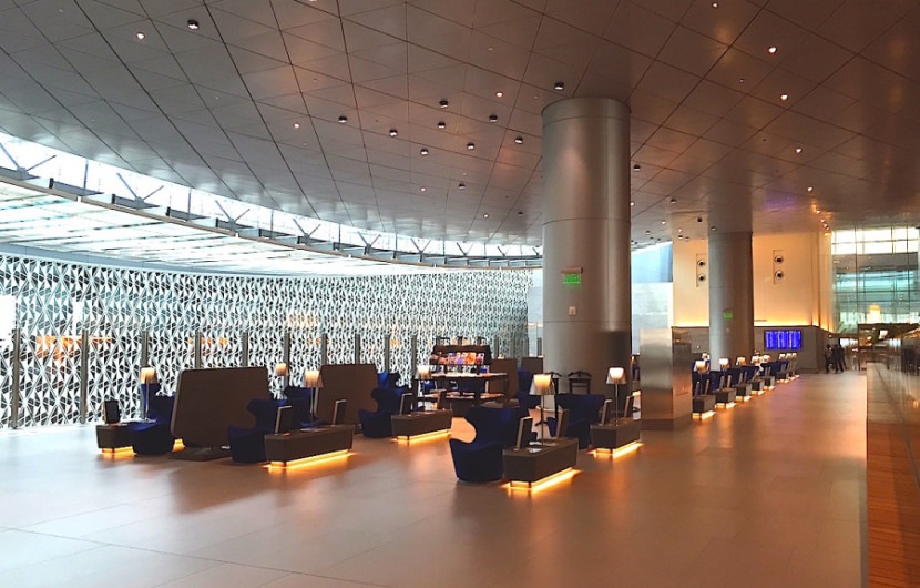 Qatar's Doha lounge is enormous and can hold up to 1,000 people at a time.