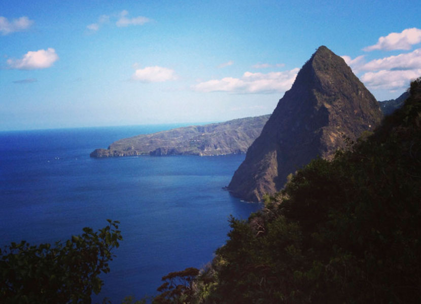 Hike the Gros Piton in Saint Lucia or admire the peaks from your hotel room at Sugar Beach, A Viceroy Resort. Image courtesy of author.