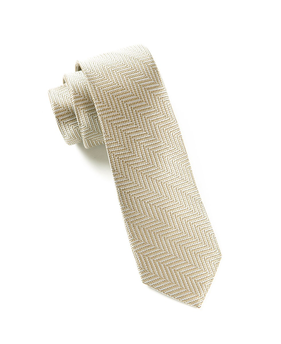 Light Champagne Native Herringbone Tie Ties Bow Ties