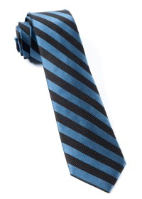 Whale Blue Twill Stripe Tie | Ties, Bow Ties, and Pocket ...
