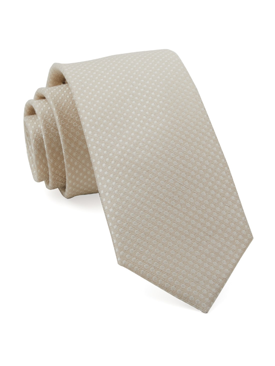 Light Champagne Dotted Spin Tie Ties Bow Ties And
