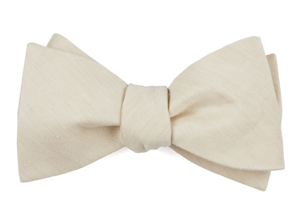 Light Champagne Linen Row Bow Tie Ties Bow Ties And