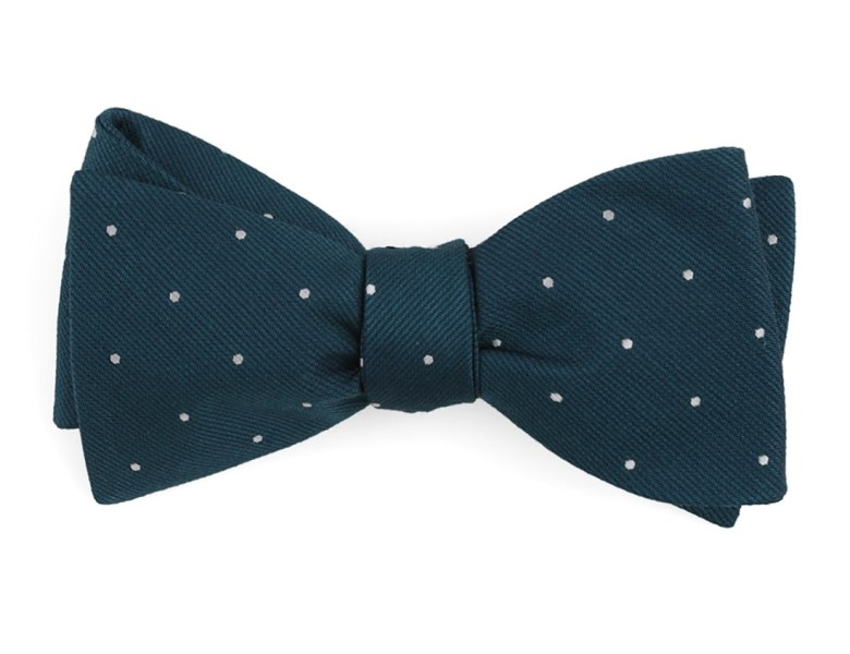 Teal Dotted Report Bow Tie Ties Bow Ties And Pocket