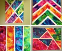 DIY Geometric Painting With Tape Ideas | The WHOot