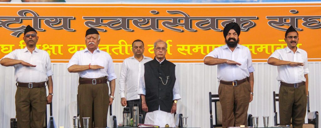 He Came, He Spoke, the RSS Conquered