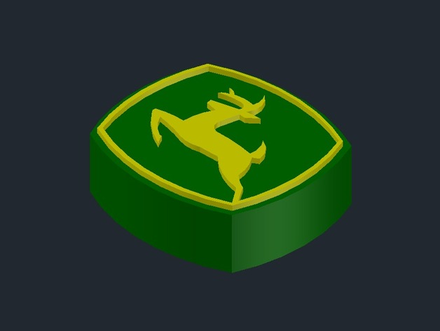3d All Wallpaper Free Download John Deere 3d Logo By Engineerdeere Thingiverse