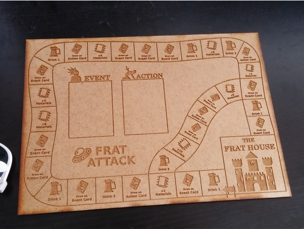 FratAttack - Printable Drinking / Board Game by Qgel - Thingiverse