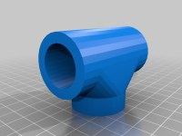 "PVC pipe 3/4"" T Joint by HMDesign - Thingiverse"