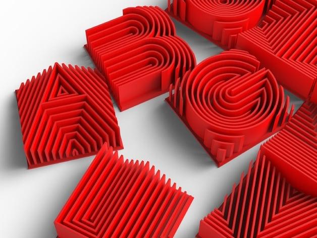 Heatwave 3d Printable Typeface by LorenIPSVM - Thingiverse