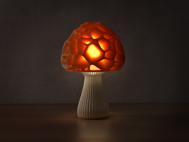 Design Lamp Lamp Voronoi Mushroom Lamp 2 By Markellov - Thingiverse