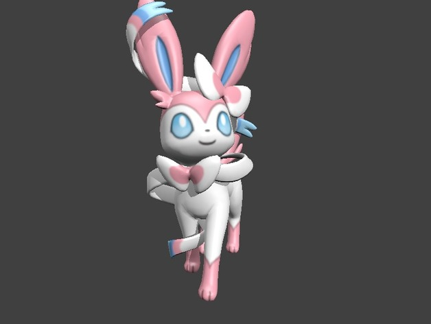 3d Changing Wallpaper Sylveon ♡ ♫ ♪ By Bisic Thingiverse