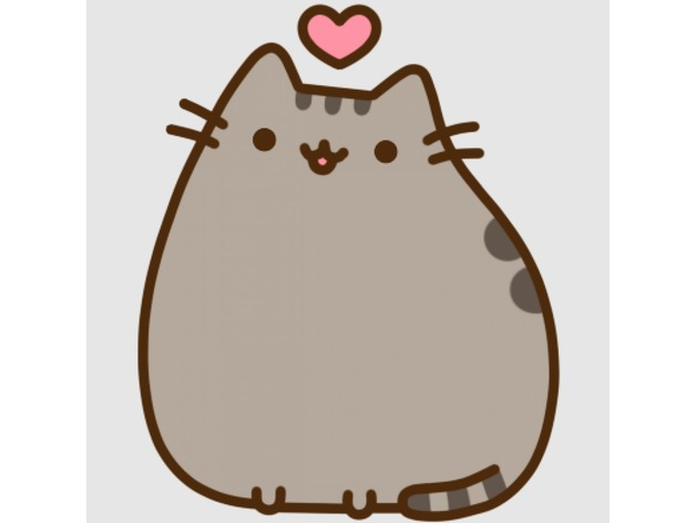 Cat Wallpaper 3d Pusheen Love By Yuyuy75 Thingiverse