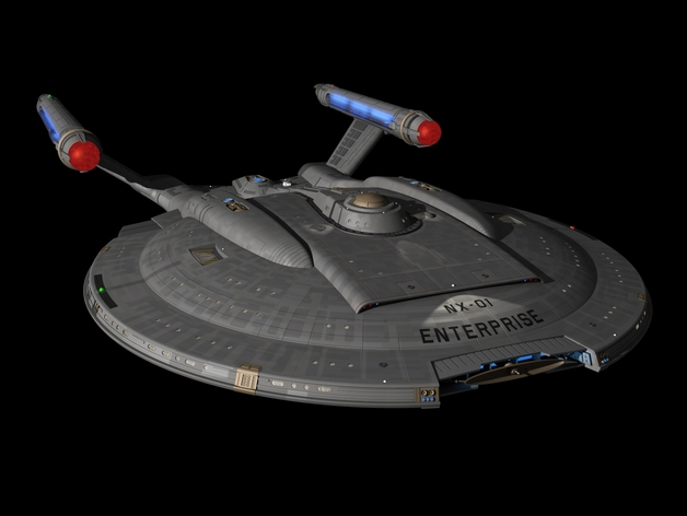 3d Wallpaper Ship Star Trek Enterprise Nx 01 Enterprise By Nd4spd1919