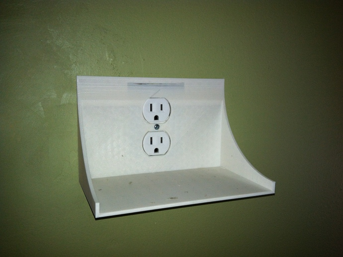 Small Shelf For Use Around A Plug By Clarktrans Thingiverse