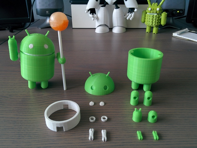Cute Wallpaper 2014 Posable Android Robot By Lingen Thingiverse
