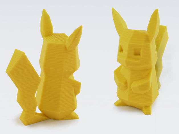 Cute Pikachu And Ash Wallpaper Low Poly Pikachu By Flowalistik Thingiverse