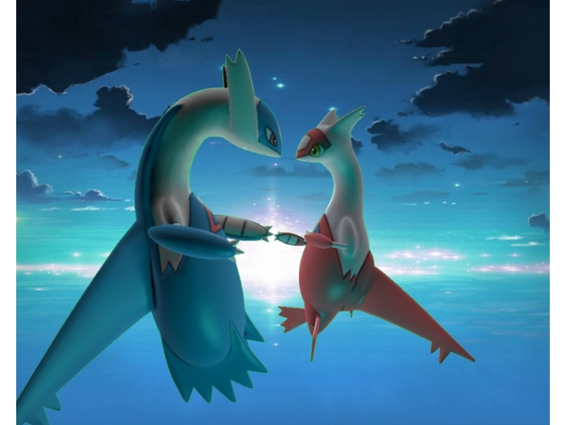 Cute Love Hd Images For Wallpaper Latias And Latios By Bisic Thingiverse