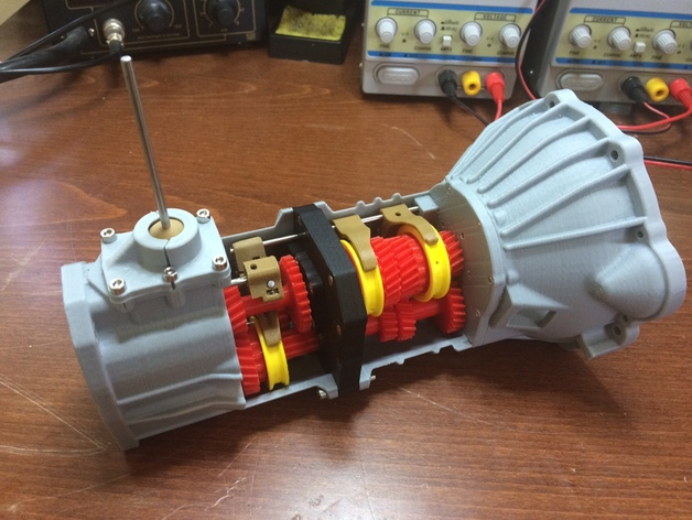 Working 5 speed transmission model for Toyota 22RE engine by