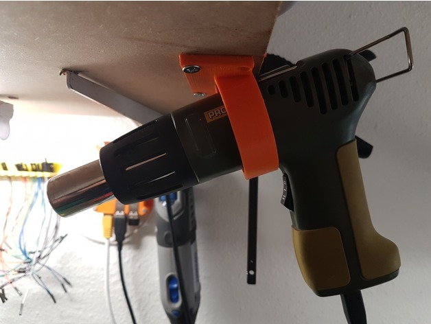 Garage Storage Ideas Proxxon Mh550 Heat Gun Holder By Chattobrian - Thingiverse