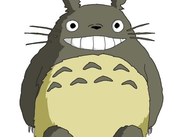 Cute Chinese Cartoon Wallpaper Smiling Totoro By Kfinch Thingiverse