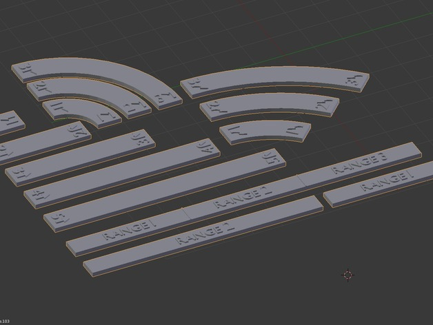 Star Wars X-Wing Movement Templates by helagak - Thingiverse