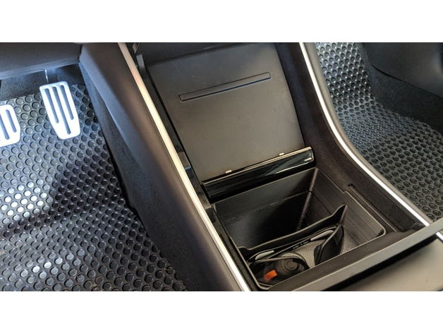 Tray Tesla Model 3 Center Console Trash And Storage Bin By
