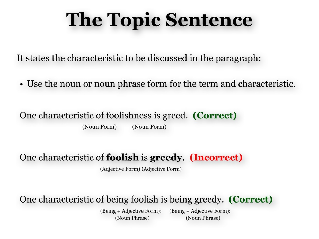 Wat Is Topic Definition Topic Sentence Explanation