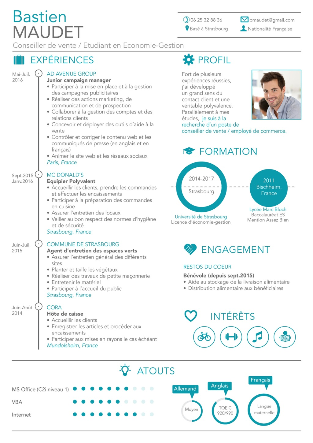 faire son cv job d ete en ligne