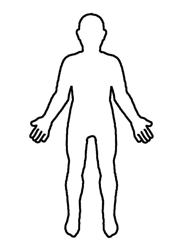 blank female body template