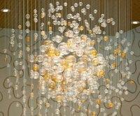 glass bubble chandelier  Roselawnlutheran