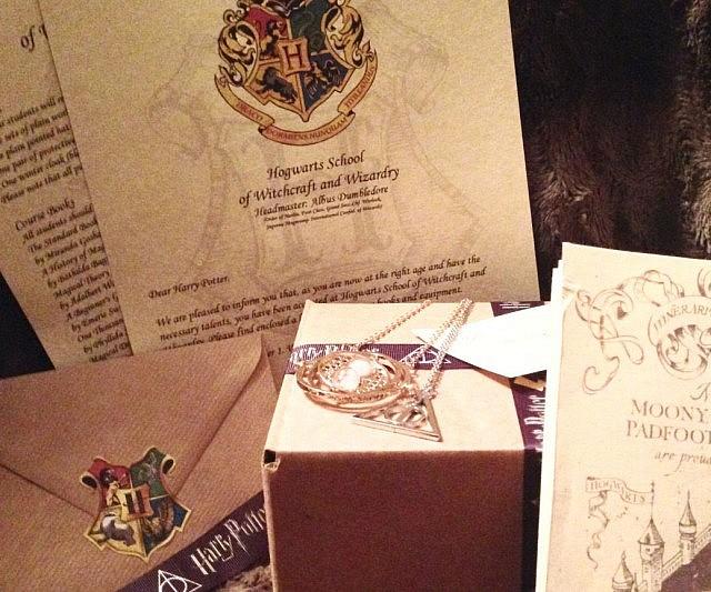 Hogwarts Acceptance Letter Gift Box - hogwarts acceptance letter