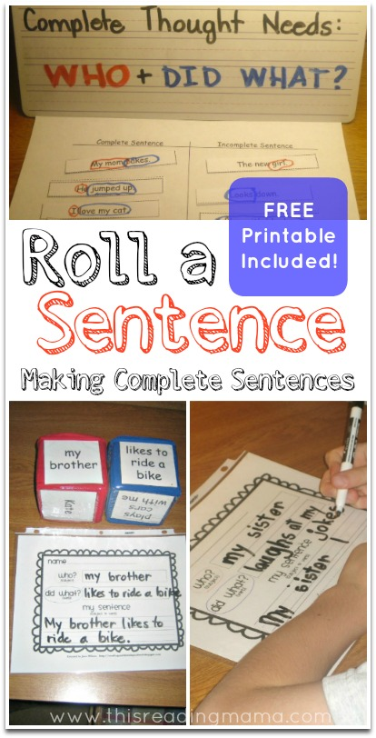 Roll a Sentence (FREE Printable Included)