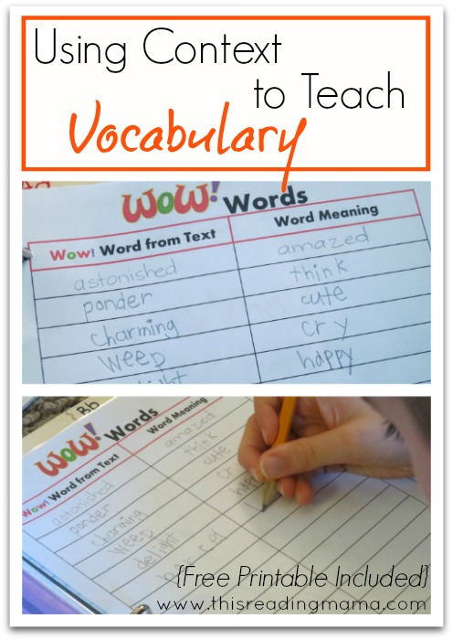 FREE Vocabulary Journal  Printables - This Reading Mama