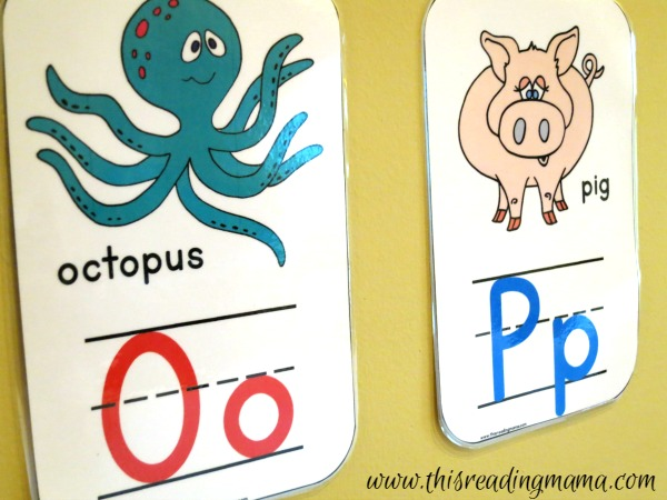 Alphabet Wall Cards from Learning the Alphabet - This Reading Mama