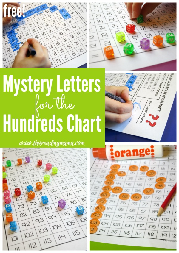 FREE Mystery Letters for Hundreds Chart