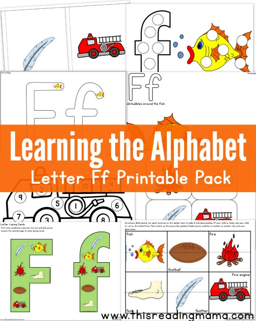 Learning the Alphabet Letter F Printable Pack - This Reading Mama