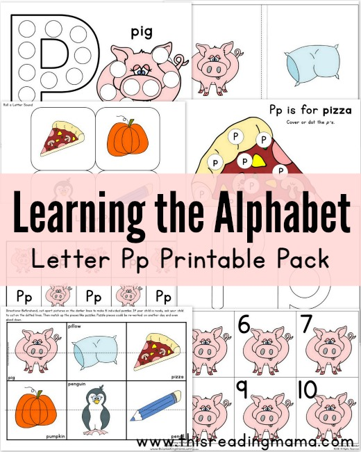 Learning the Alphabet Letter P Printable Pack - This Reading Mama