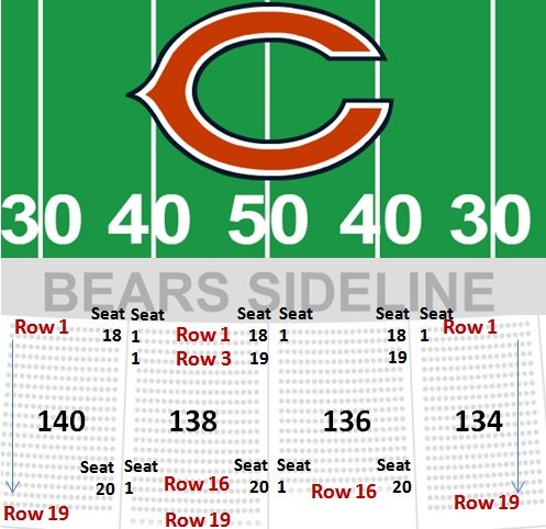 view seating charts chicago bears at soldier field section 309 view