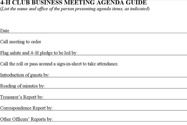 5+ Professional Agenda Templates Free Download