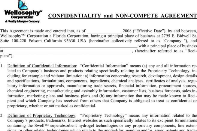 5+ Simple Non-Compete Agreements Free Download
