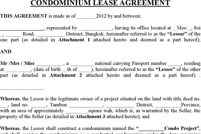 2 Condo Lease Agreement Template Free Download