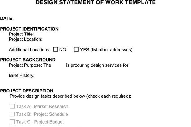 3+ Statement of Work Template Free Download