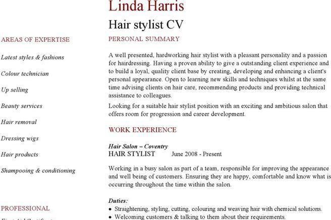 Download Hairdressing CV Template for Free - TidyTemplates