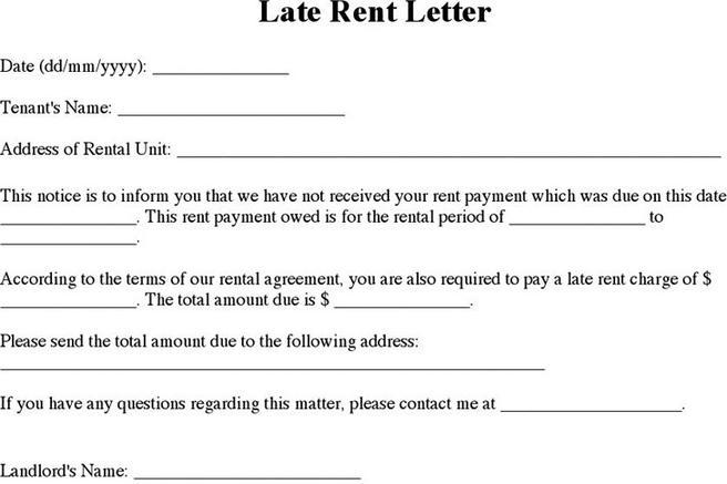 Download Late Rent Notice Template for Free - TidyTemplates